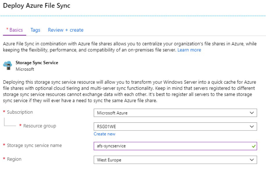 Introduzione ad Azure File Sync | WindowServer it